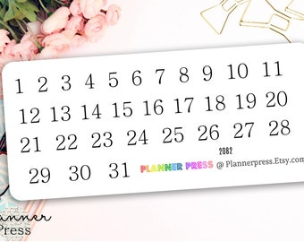 Simple Dates Planning Reminder Stickers - Fits Erin Condren, KikkiK, Filofax Planners and Midori Notebooks 2082