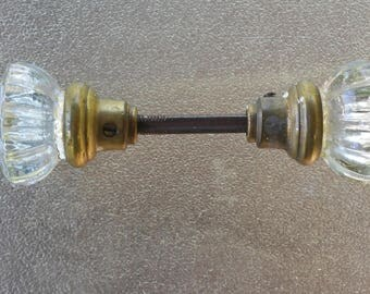 Vintage glass door handle