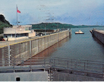 Kentucky Dam Locks Tenessee River Authority Collectible Postcard Paper Ephemera Postmark 1956