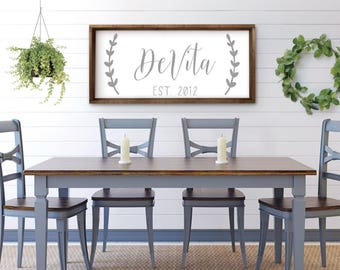 Personalized Farmhouse Wood Sign