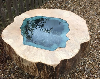 Coffee Table with Blue lake