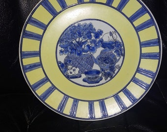 Vintage Chinese Theme Stoneware Plate