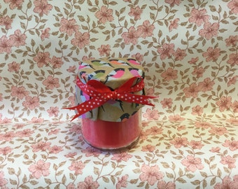 Scented Container candle, sweet strawberry fragranced candle, candle in a jar, scented candle, fudge scented candle