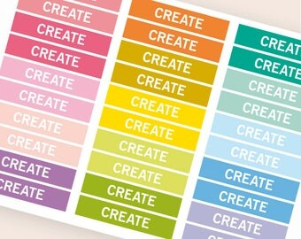 Create Heading stickers, planner header stickers, planner stickers, agenda notebook journal stickers, reminder scrapbooking hobby functional