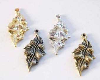fall leaf statement flower necklace bracelet small mini pendants Charm kit for women mother child children girls[3 pieces]a59