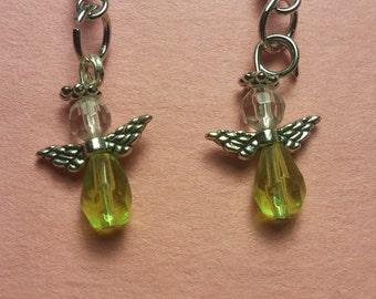 Angel Earrings with August birthstone