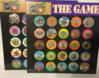POG The Game Unpunched 1990s Pog Collection Milk Caps