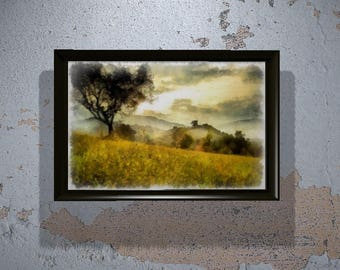 A Mystic Meadow in Watercolor (print- various sizes)
