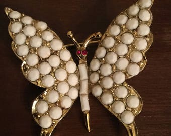 Rare Vintage Butterfly Brooch Pin Signed Pell