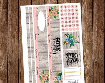 Gone Country Happy Planner Monthly, Happy Planner Classic Monthly