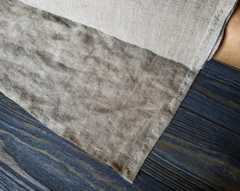 Rough linen fabric by the meter, stonewashed linen fabric, softened heavy linen fabric by the yard, vintage rustic linen upholstery fabric