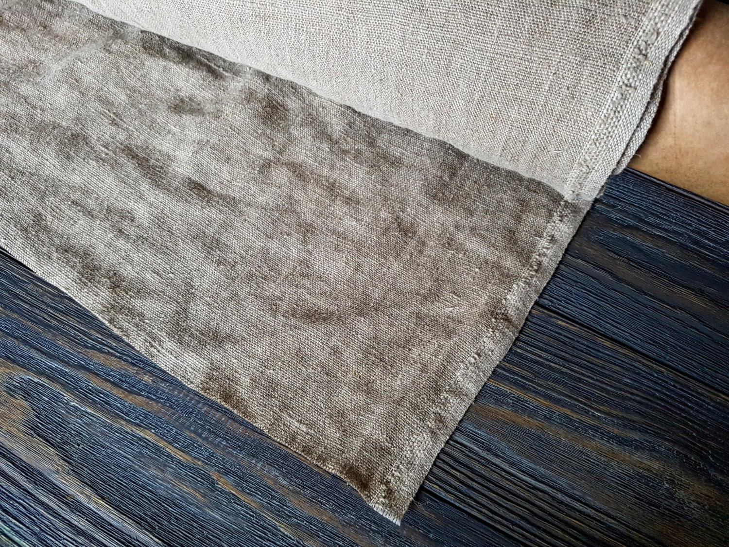 Rough Linen Fabric By The Meter Stonewashed Linen Fabric