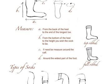 NEW! Custom Handmade Knit Wool Socks, Light Weight Wool Socks, Made For Your Feet! Men's or Women's