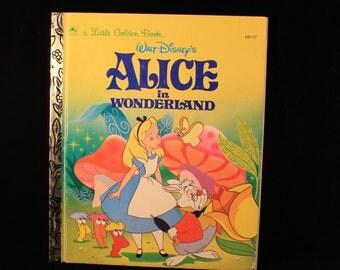 Alice in Wonderland Vintage Children's Book, Little Golden Books, Walt Disney's