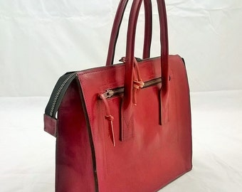 Small, Premium Quality, 1940's inspired, Ladies Leather Handbag. The Ellie. Suede Lined.