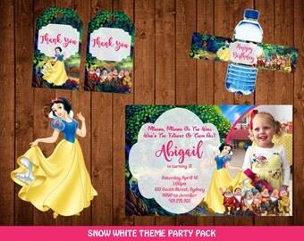 Snow White theme party / Snow White Birthday / Snow White Party / Snow White Party Kit