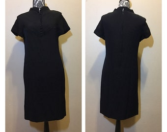 Vintage 60s Mod Black Dress | 60s Go Go Dress
