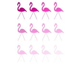 Flamingo Art Flamingos Art Flamingo Print Pink Flamingo Pink Art Flamingo Lawn Ornament Bird Art Pink Print Flamingo Wall Art Flamingo Ombre