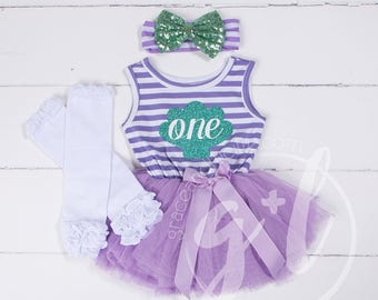 First Birthday outfit dress, Little mermaid birthday outfit, Mermaid First Birthday Outfit, Purple and aqua, Seashell outfit, Under the sea