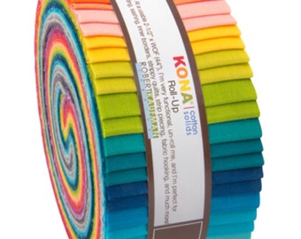 Kona Cotton solids roll up - Elizabeth Hartman - quilts UK seller
