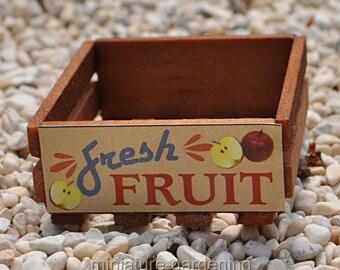 Wooden Crate for Miniature Garden, Fairy Garden, Color: Fruit