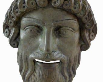 Mask of Poseidon, Posidon bronze God of the Sea