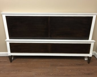 MCM - Vintage - Mid Century Modern - Full Size Headboard and Footboard