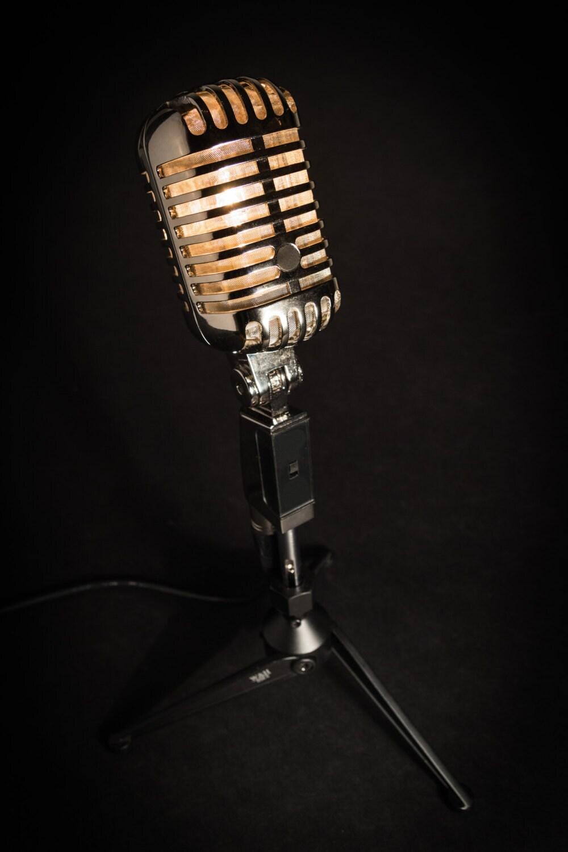 Retro microfoon lamp van microphonemania op etsy