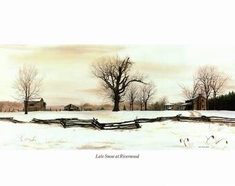 Late Snow at Riverwood painted by Bob Timberlake for the book Somewhere in Time