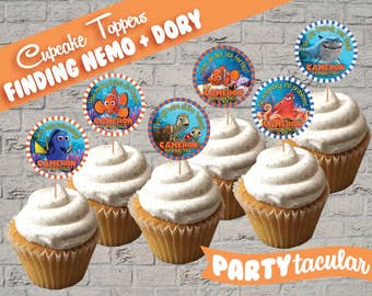 Finding Nemo, Finding Dory Cupcake Toppers