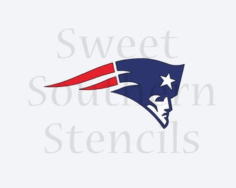 NE Patriot Cookie Stencil