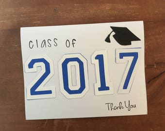 Graduation Thank You Cards set of 25 (will change colors and numbers)