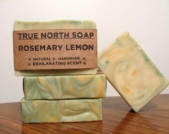 Rosemary Lemon Soap- Natural Soap, Handmade Soap, Cold Processed Soap