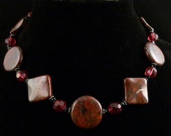 Blood Agate Necklace, N0124