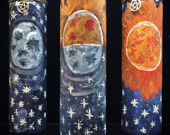 Moon, Sun, Universe 7 Day Candles