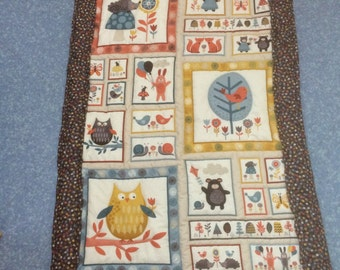Woodland Animals Quilted Quilt/Throw