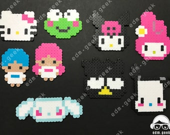 Hello Kitty Themed Perler Magnets, Self-Adhesives, or Keychains