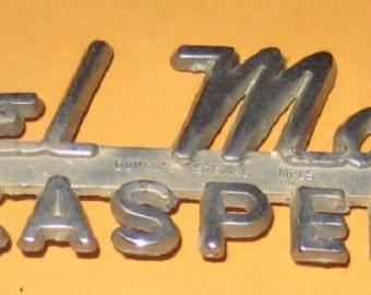 Vintage Car Dealer Emblem  Nagel Motors Casper/ Old/ used/ vintage/ vehicle/
