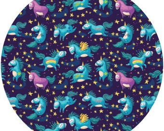Unicorn fabric etsy for Space unicorn fabric
