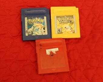 Pokemon Game Boy Game - Pokemon Red - Pokemon Yellow - Pokemon Blue