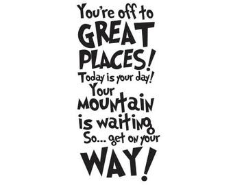 Dr. Seuss - You're off to great places - Vinyl Wall Decal