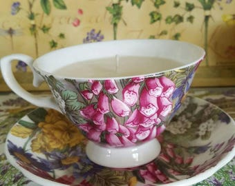 Soy Candle. Teacup candle. Fragrance. Container candle. Lavender. Vanilla.