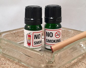 NO SMOKING Essential Oil Blend with Bamboo 'Cigarette', Quit Smoking Support, Stop Smoking Naturally, Cease Smoking, Kick the Habit!