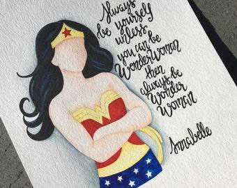 Wonder Woman Nursery Decor. Wonder Woman Children's wall art.
