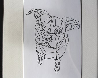 Geometric Style Pet Portrait