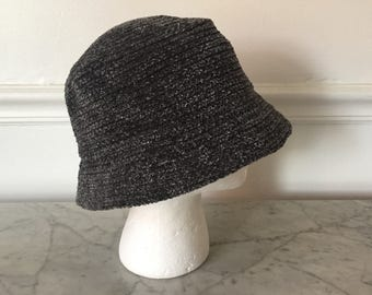 Vintage chenille hat. 1990's bucket hat. Chenille bucket hat. 90's bucket hat. Vintage chenille bucket hat.