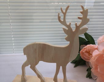 Deer, Cutout, Standing Plywood Cutout, DIY,Christmas, Home Decor, Cabin Decor