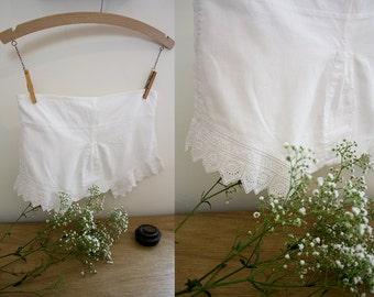 SALE*** Edwardian Children's Bloomers / Victorian Pantaloons / Cotton Shorts / Size XXS / Adjustable Waist / Cotton Lace