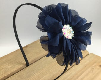 Navy Headband, Navy Blue Headbands for girls, headbands for adults, headbands for women, hard headband, navy women's headband