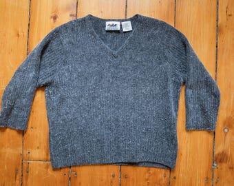 Vtg Boxy Fuzzy Sweater